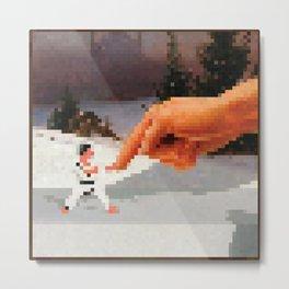 Pointer Painting Pixel Art Metal Print
