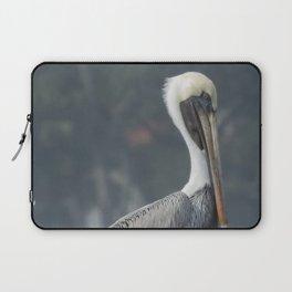 Regal Brown Pelican on Wooden Post Laptop Sleeve