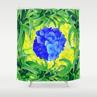 brasil Shower Curtains featuring Brasil Flag by Jess Batista
