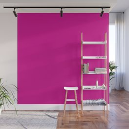 Hot Shocking Valentine Pink Solid Color Wall Mural