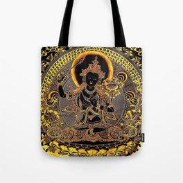 Manjushree Black Gold Thangka Tote Bag