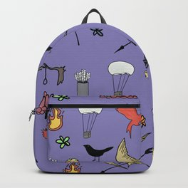 Hunger Game quality pattern  - purple version Backpack