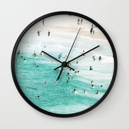 People In The Water Wall Clock