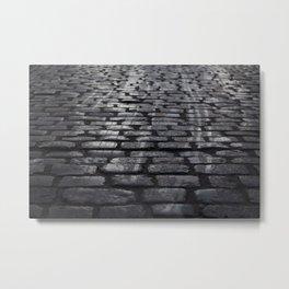 Winter Street Metal Print
