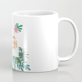 Summer In Floral Frame Coffee Mug