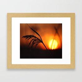Good Morning Sun Winter Scene #decor #society6 Framed Art Print