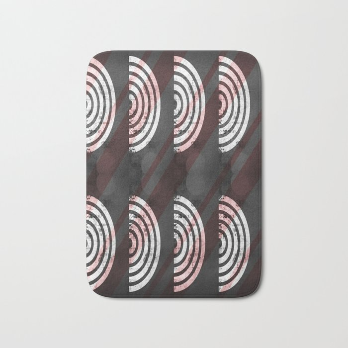 Target Record With Stripes Bath Mat