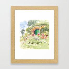 Hole in the Ground Green Door New Zealand Framed Art Print