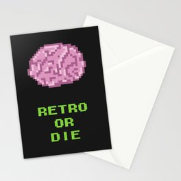 RETRO OR DIE Stationery Cards