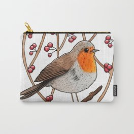 Christmas winter robin Carry-All Pouch