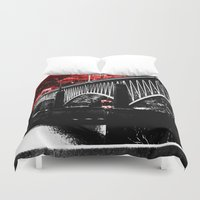 pittsburgh Duvet Covers featuring Pittsburgh Bridge by Layne Andrews