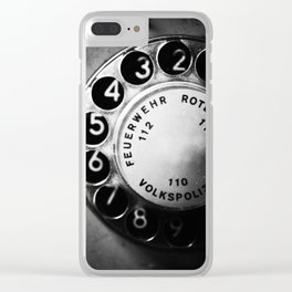 Telephone dial (GDR) Clear iPhone Case