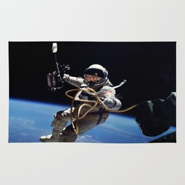 Astronaut : First American Spacewalk 1965 Rug