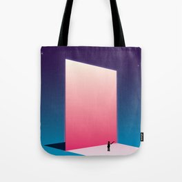 The Mirror reflecting another sky Tote Bag
