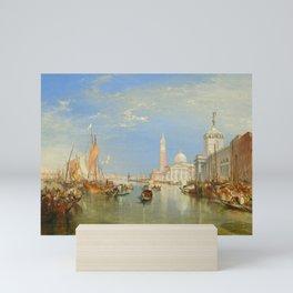 """J.M.W. Turner """"Venice - The Dogana and San Giorgio Maggiore"""" Mini Art Print"""