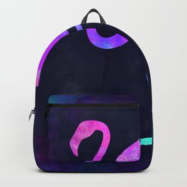 FLAMINGO IN SPACE // Animal Graphic Art // Watercolor Canvas Painting // Modern Minimal Cute Backpack
