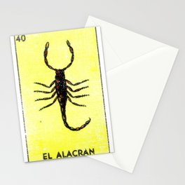 El Alacran Mexican Loteria Bingo Card Stationery Cards