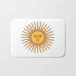 Argentina Flag Sun Bath Mat