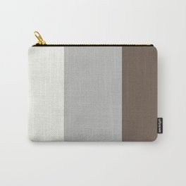 Benjamin Moore 2019 Color of Year Metropolitan, Mustang Brown, & Snowfall White Vertical Stripes Carry-All Pouch