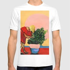 I Have This Thing With Plants Mens Fitted Tee White MEDIUM