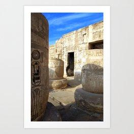 Habu Temple, Luxor (Egypt) Art Print