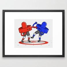 Air Hockey Brawl Framed Art Print