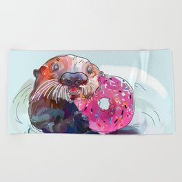 Otter Donut Beach Towel