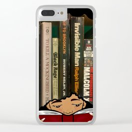 Lost in the Pages Clear iPhone Case