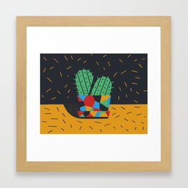 Just plants, the beauty is just beauty. The Cactus Framed Art Print