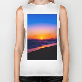outstanding sunset Biker Tank
