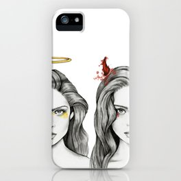 Angel Face & Hellfire iPhone Case