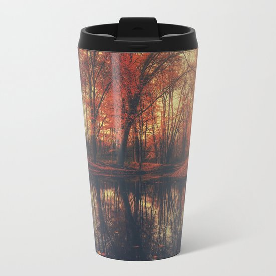 Where are you? Autum Fall - Autumnal forest Metal Travel Mug