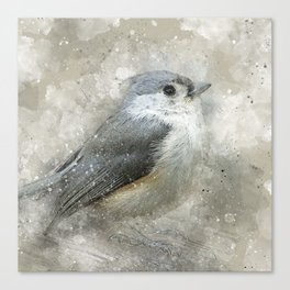Tufted Titmouse Bird Canvas Print