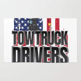 When God Created American Tow Truck Drivers Rug