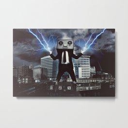 Evil Robot Overlord Metal Print