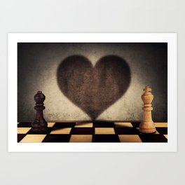 the impossible relationship Art Print