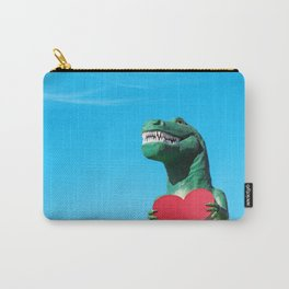 Tiny Arms, Big Heart: Tyrannosaurus Rex with Red Heart Carry-All Pouch