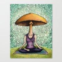 mushroom Canvas Prints featuring Mushroom by Lauren Stenger