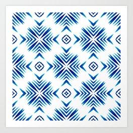Shibori Blue Watercolour No.15 Art Print
