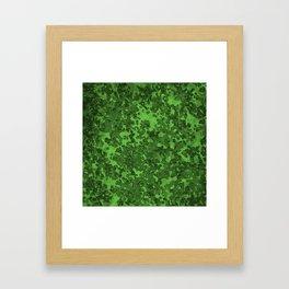 Green Hybrid Camo Pattern Framed Art Print