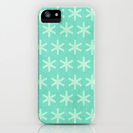 Asterisk Small - Turquoise iPhone Case