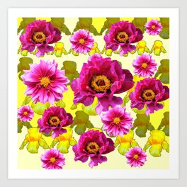 SPRING FLOWERS ART Art Print