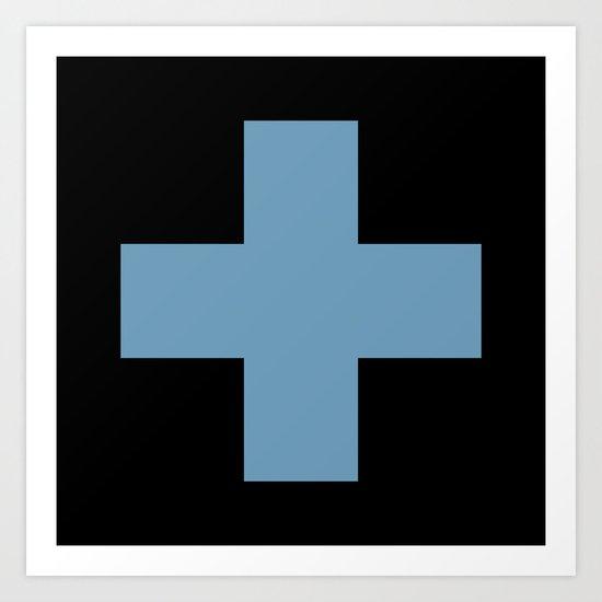 Blue Cross Art Print