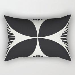 Diamond Series Floral Cross White on Charcoal Rectangular Pillow