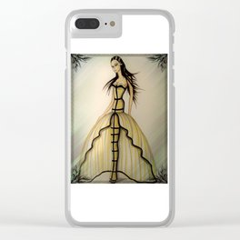 Morticia Wears Haute Couture Illustration By James Thomas Ryan Clear iPhone Case