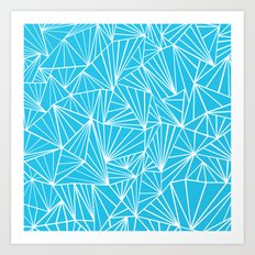 Ab Fan Electric Blue Art Print