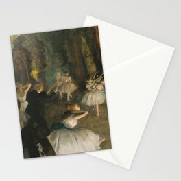 Edgar Degas - The Rehearsal of the Ballet Onstage Stationery Cards