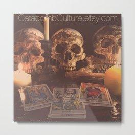Catacomb Culture - Skulls and Tarot Metal Print