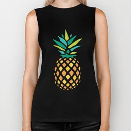 Summer Pineapple Biker Tank