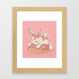 Donut Bunny Framed Art Print
